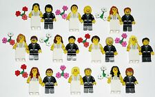 LEGO BRIDE GROOM Wedding Minifigures NEW Custom Cake Topper YOU CHOOSE