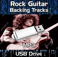 130 GREATEST ROCK GUITAR BACKING TRACKS & TABS TABLATURE JAM TRACKS USB DRIVE