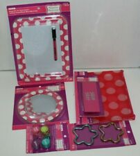 4Pc Locker Magnetic Whiteboard Mirror Pencil bag Giant Eraser School Polka Dots