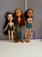 Vintage Bratz Funk Out Lot Of Three Dana Fianna Yasmin Dolls And Accessories