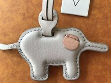 FOSSIL ADORABLE LEATHER ELEPHANT BAG CHARM/FOB - NWT