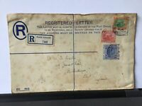 Kuala Lumpur 1914 to England Registered stamps cover Ref R28286