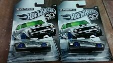 HOT WHEELS 2--68 ZAMAC COPO CAMARO 50TH ANNIVERSARY CARD WAL-MART EXCLUSIVE 1/64