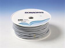 Donaghys Shock Cord Poly Elastic 5mm x 100m White Blue Fleck