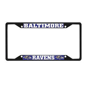 Fanmats NFL Baltimore Ravens Black Metal License Plate Frame Del. 2-4 Days