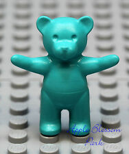 New Lego Turquoise Teddy Bear Girl Friends Minifig Aqua Blue Toy Belville Animal