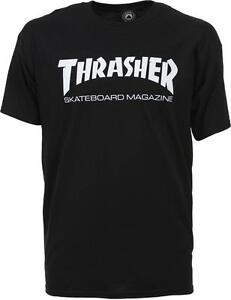 THRASHER T SHIRT SKATE MAG LOGO BLACK