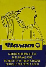 BARUM Original Bremsbeläge Belagsatz MB C-,E-Kl.124er Bj.84-00    BA2094