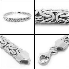 Bold Polished Byzantine Bracelet 14K White Gold QVC