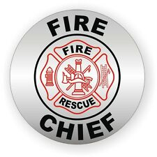 Fire Chief Helmet Decal / Sticker Vinyl Label Firefighter Hard Hat Rescue EMT