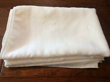 "Ivory Table Cloth 53"" x 69"" off White Table Cloth Rectangle textured Design"