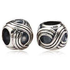 ❤ Celtic Weave Genuine 925 Sterling Silver Charm Bead Fit Bracelet Gift ❤