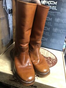 POLO RIDING BOOTS SIZE 9D Rare Unique customized Tall Leather Western Cowboy
