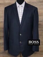 Recent BOSS Hugo Boss Men's Wool Navy Blue Check Blazer Sport Coat Jacket 40R