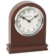 Wm.Widdop Arched Walnut Wood Mantel Clock with Arabic Dial