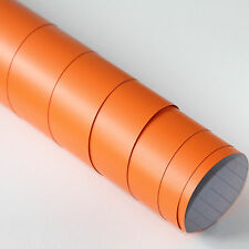 DIN A4 Wrapping Folie Matt Orange 21cm x 29,7cm Autofolie mit Luftkanälen