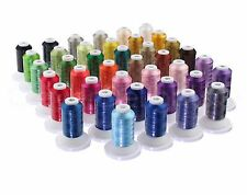40 Color Embroidery Machine Thread Set - 550 Yd Spools - Premium Polyester 40wt
