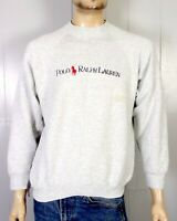 vtg 80s 90s BOOTLEG Polo Ralph Lauren Raglan Sweatshirt Pony Spell Out Logo XL