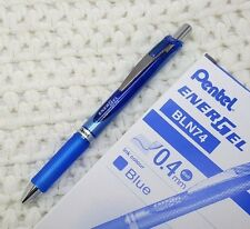 2pcs Pentel Ener Gel BLN74 altra fine 0.4mm roller ball pen Gel ink BLUE