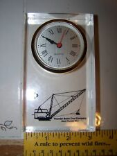 Clear Desk Office Quartz Clock Thunder Basin Coal Company Black Thunder Mine