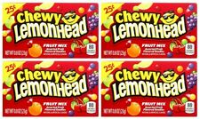 4x Chewy Lemonhead Fruit Mix Assorted Fruit Flavored Candies American Sweets