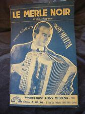 Partition Le merle noir Tony Muréna  Music Sheet