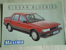Nissan Bluebird Maxima brochure Sep 1985