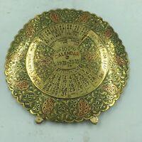 "100 Year Calendar, Nautical Decoration Polished Brass Finish 6"" Dia. 1978-2077"