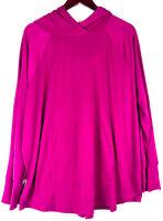 Lularoe Amber Pink Hoodie Sweatshirt Pullover 2XL 2X XXL 18 20 Solid Unicorn   G