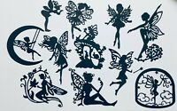 GIANT LOT! FAIRY/ FAIRIES SILHOUETTE DIE CUT/ CUTS -VARIETY OF FAIRIES LOT #1