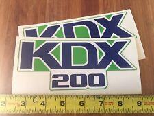 """Kawasaki KDX 200 Motorcycle Tank Decals 6 3/8"""" Long 1988 Set 2"""