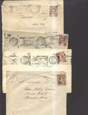 AARG-73 ARGENTINA 1940-4 LOT 4 COVERS PyR.METER CANC(ALSO INVERTED AIRPLAN