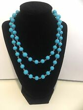 Kohl's Blue Beaded Necklace Costume Jewelry