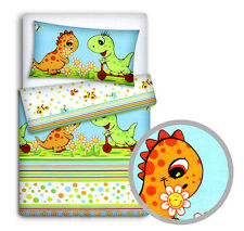 Baby Bedding Set Pillowcase Duvet Cover 2pc to Fit Cot Cotbed Junior Bed 80x70 Cm 57. Zoo Green