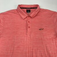 Greg Norman Play Dry Polo Shirt Men's Size 2XL XXL Short Sleeve Pink Golf Casual