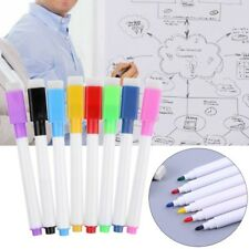 1Set Magnetic Whiteboard Pen Erasable Marker Office School Supplies 8 Colors New