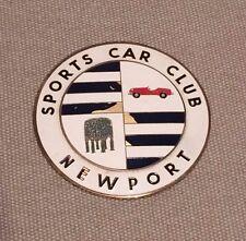 Vintage Enamel Newport (Rhode Island) Sports Car Club Grille Grill Badge