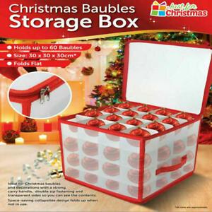 Weihnachtskugeln Aufbewahrung Schachteln f/ür Weihnachtskugeln Und Weihnachtsdekoration Weihnachtskugeln Aufbewahrungsbox mit Papier Ablagen f/ür 64 Kugeln Gr/ün