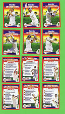 WEETBIX  CRICKET TOWN CARD SETS - FIRST & SECOND SERIES