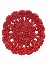 "Mode Crochet 5"" Coaster - Set Of 4 - By Heritage Lace - Ruby Red"