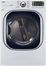 """Lg 27"""" Electric Dryer with TurboSteam White 7.4 cu. ft - Nob! - Dlex4370W"""