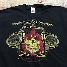 MASTODON HEAVY METAL ROCK TOUR T Shirt L Skull Flames VTG Satan Thrash Promo