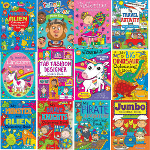 Colouring Book Sticker Book Colouring Books Boys Girls Stickers Kids Fast Ship