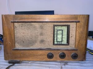 VINTAGE VÁLVULA RADIO TELEFUNKEN   PARA  RESTAURAR Sobre 1930