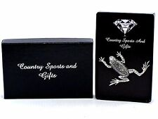 Frog Climbing Finest English Pewter Lapel Pin Badge Brooch Hand Made - Gift Box