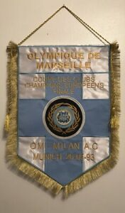Olympique de Marseille v AC Milan European Cup Final 1993 Fanion Gagliardetto.