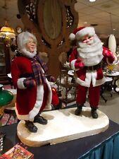 """🎅 Vintage 🎄 Harold Gale ⛄ 40"""" Mechanical Store Display 🎄 Mr/Ms Santa Claus 🎅"""