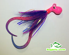 Pink purple Octopus Bucktail Jig with teaser tails Saltwater size choice