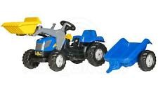 Rolly Toys -  NEW HOLLAND T 7040 Ride on Pedal Tractor Loader Trailer Age 2 1/2+