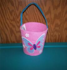 Easter Jubilee Pink with Blue Butterfly Felt Basket ~Any Occasion~Easter Basket